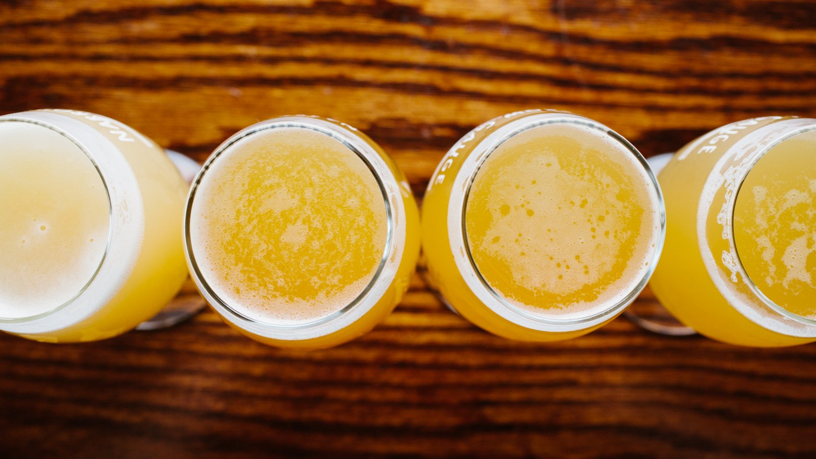 Narrow gage brewery brewing beer glasses 2